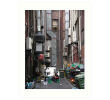 Melbourne back alley smoko Art Print