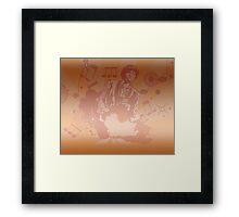 Burnt Orange Juice Framed Print