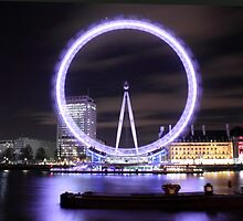 The London Eye By Night by Graham Ettridge