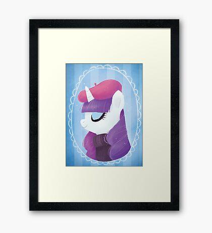 the pony everypony should know Framed Print
