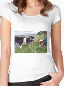 The World is full of Collies Women's Fitted Scoop T-Shirt