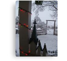 Cottage White Christmas Canvas Print