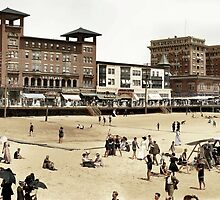 A day at the Beach, Atlantic City, 1915 by Zahulie