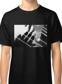 Hand Shadow on a Solar Panel Classic T-Shirt