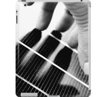 Hand Shadow on a Solar Panel iPad Case/Skin