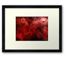 Blood of Me (an image, a poem, a song) Framed Print