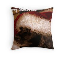 Santa Loves Peppy Throw Pillow