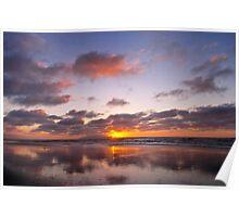 Enjoying the Solitude of Sunset Poster