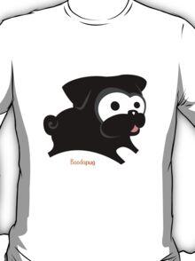 Black pug play geek funny nerd T-Shirt