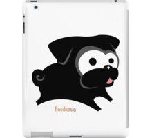 Black pug play geek funny nerd iPad Case/Skin