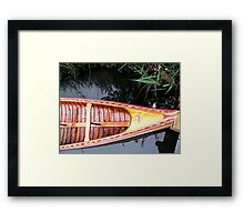 old canoe Framed Print