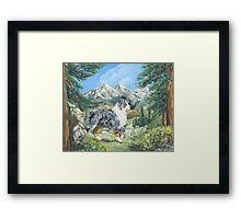 Beauty and Brains -The Majestic Pacific NW Framed Print