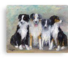 Pirate and his daughters, Magic, Shad and Bess Canvas Print