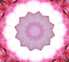 pink pop flowers mandala Sticker
