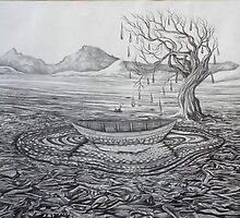 island. 11''x14''. graphite on paper. adam sturch. by adam sturch