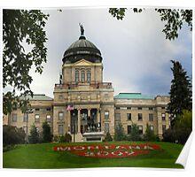 Montana Capitol Building Poster