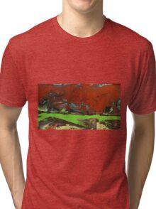 cantors dust. 42''x23''. oil on wood. adam sturch. Tri-blend T-Shirt