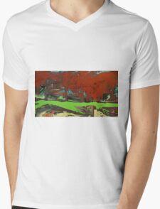 cantors dust. 42''x23''. oil on wood. adam sturch. Mens V-Neck T-Shirt