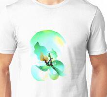 Floaty illustrate green leaf Unisex T-Shirt