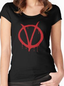 V for Vendetta - Alan Moore Women's Fitted Scoop T-Shirt
