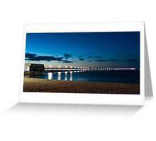 Busselton Jetty after dark Greeting Card