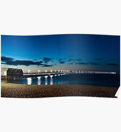 Busselton Jetty after dark Poster