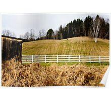 Fenced Hillside Poster