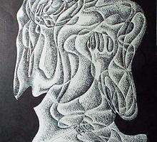 fantasy. 11''x14''. pen on paper. adam sturch by adam sturch