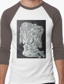 fantasy. 11''x14''. pen on paper. adam sturch Men's Baseball ¾ T-Shirt