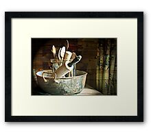 In the Kitchen Framed Print