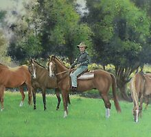 Steve & His Stockhorses by louisegreen