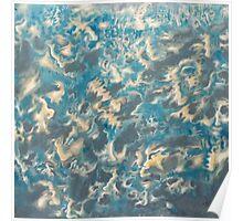 talking water. 24''x24''. oil on wood. adam sturch Poster