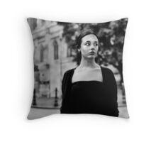 Black and White Portrait Throw Pillow