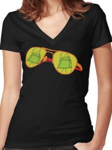 Attitude  Women's Fitted V-Neck T-Shirt