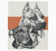 American Staffordshire Terrier, Father & Son T-Shirt