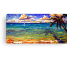 Serenity on the Caribbean Canvas Print