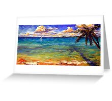 Serenity on the Caribbean Greeting Card