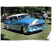 Plump blue Chevrolet Hot Rod Poster