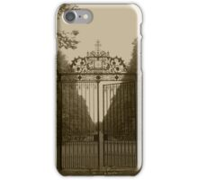 Wrought Iron Gate | Old Westbury, New York  iPhone Case/Skin