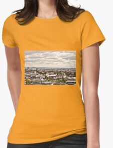 Colourful Cityscape. Womens Fitted T-Shirt