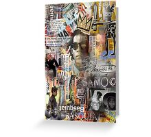 basquiat Greeting Card