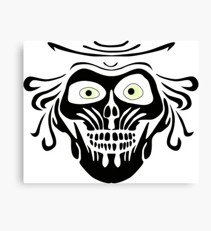 Hatbox Ghost - Wallpaper-Style Canvas Print