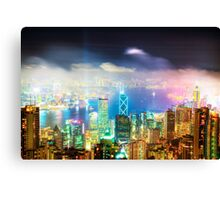 Hong Kong Night Lights Canvas Print