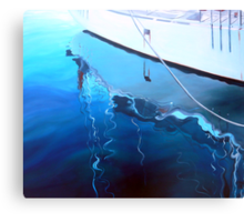 Yacht Reflection - Oil on Canvas Canvas Print