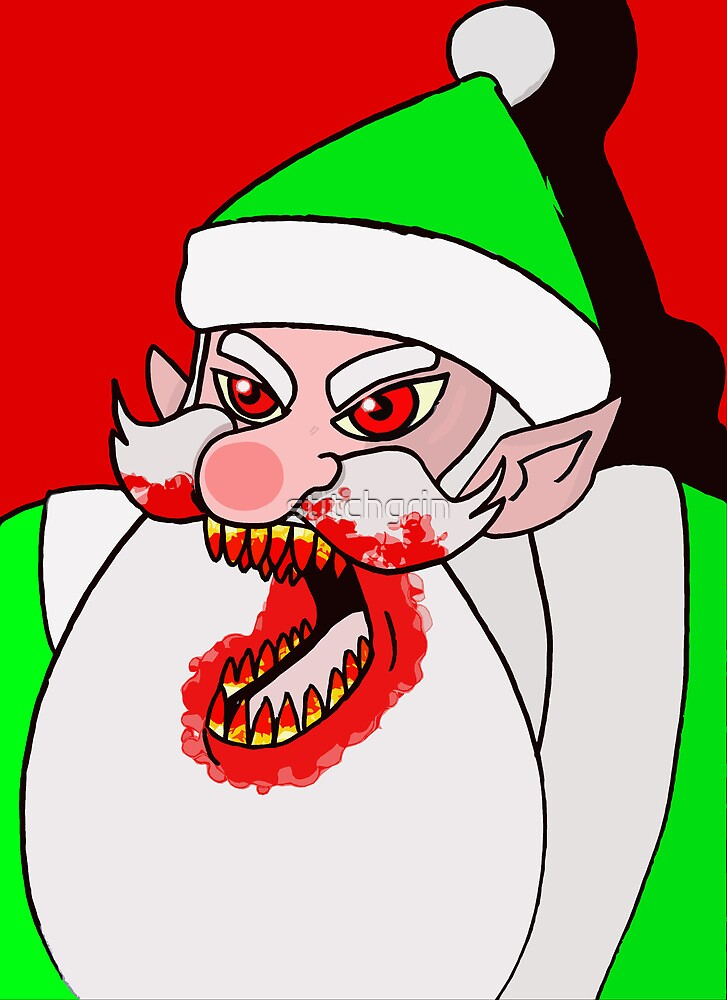Santa's evil helper by stitchgrin