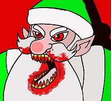 Santa's evil helper by stitchgrin