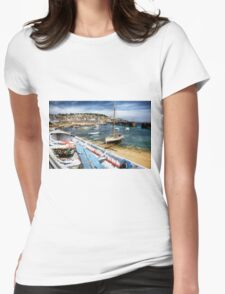 Mousehole Harbour Womens Fitted T-Shirt