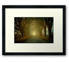 The light is coming Framed Print