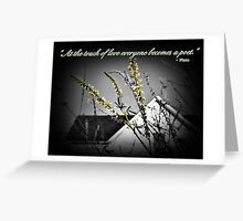 Touch of Love Greeting Card