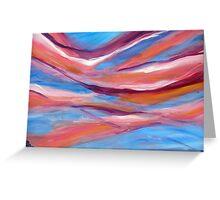 Pink ribbon sky Greeting Card